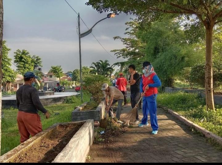 Gotong Royong Sabtu Bersih Tingkat Kecamatan Medan Marelan