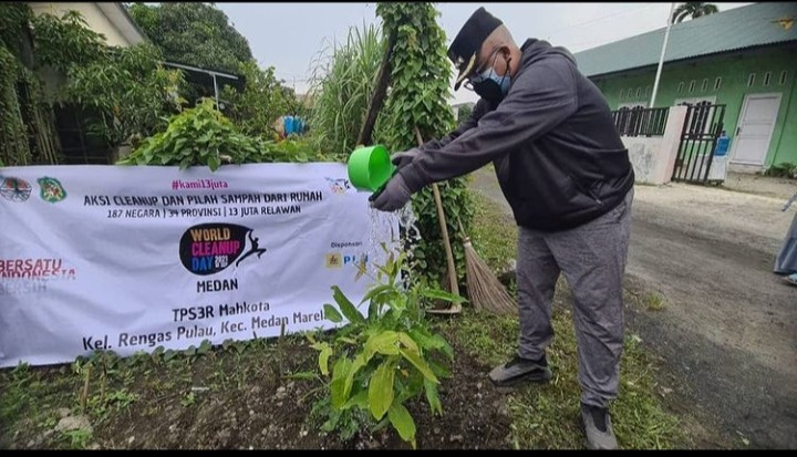 Peringatan World Clean Up Day Tingkat Kecamatan Medan Marelan Tahun 2021