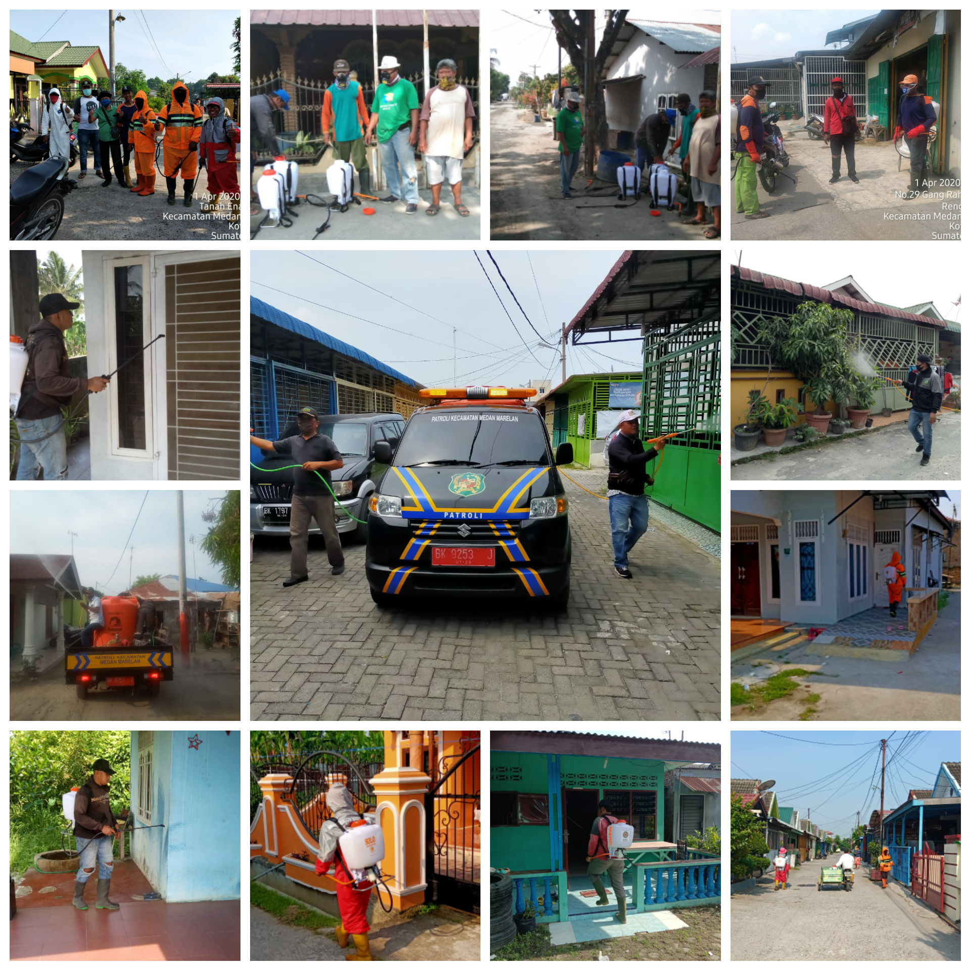 Kecamatan Medan Marelan, terus berusaha dalam memutus mata rantai penyebaran Covid-19
